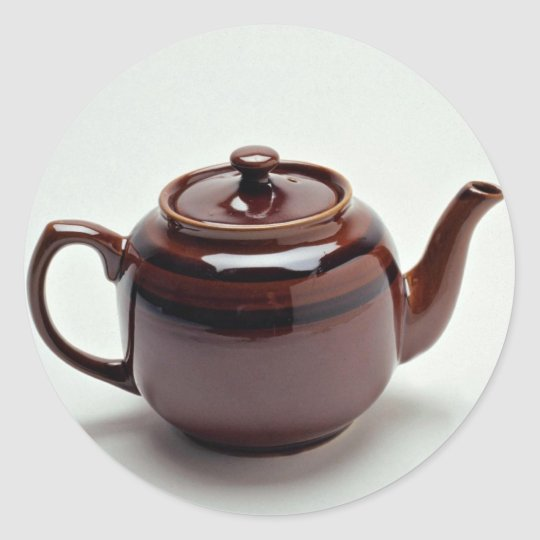 Attractive Teapot Classic Round Sticker