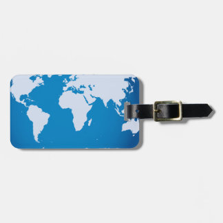 Attractive World Map Luggage Tag