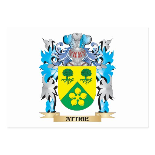 Attrie Coat Of Arms Business Card