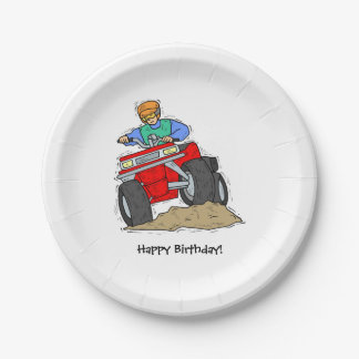ATV Birthday Party Paper Plates 7 Inch Paper Plate