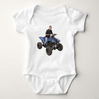 ATV Blue Mud Rider Baby Bodysuit