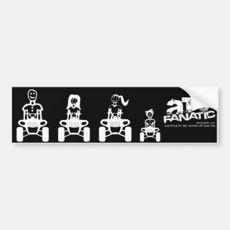 ATV Family Stick Figure (Dad, Mom, Daughter, Son) Bumper Sticker