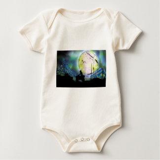 ATV Four Wheeler Space Landscape Spray Paint Art Baby Bodysuit