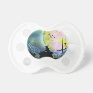 ATV Four Wheeler Space Landscape Spray Paint Art Baby Pacifier