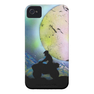 ATV Four Wheeler Space Landscape Spray Paint Art iPhone 4 Cover