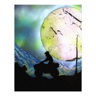 ATV Four Wheeler Space Landscape Spray Paint Art Letterhead