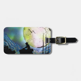 ATV Four Wheeler Space Landscape Spray Paint Art Luggage Tag