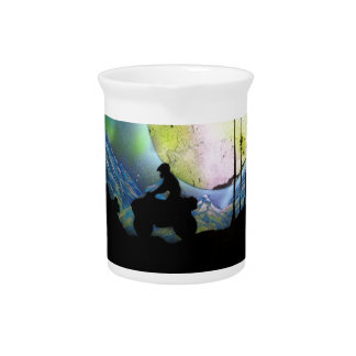 ATV Four Wheeler Space Landscape Spray Paint Art Pitcher
