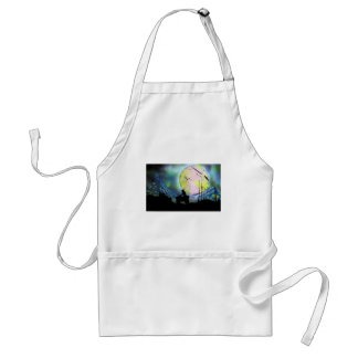 ATV Four Wheeler Space Landscape Spray Paint Art Standard Apron