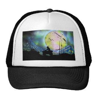 ATV Four Wheeler Space Landscape Spray Paint Art Trucker Hat