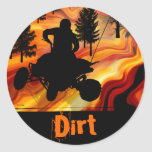 ATV on the Road from Hell Round Sticker