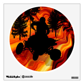 ATV on the Road to Hell Wall Decal