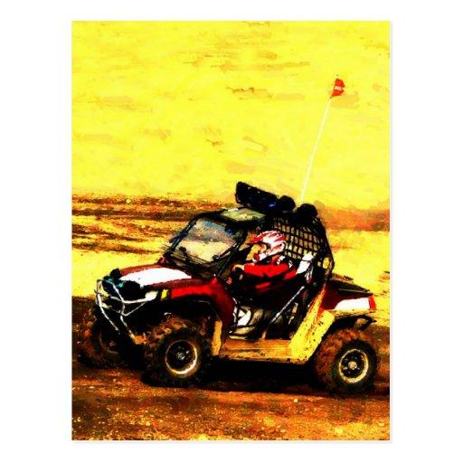 ATV Rider - All Terrain Extreme  Motorsports Postcards