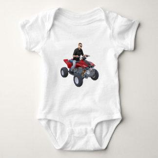 ATV Rider in red Baby Bodysuit