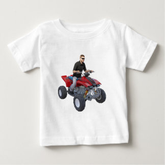 ATV Rider in red Baby T-Shirt