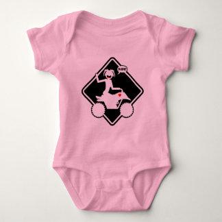 ATV STICKGIRL BABY BODYSUIT