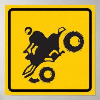 ATV Traffic Highway Sign