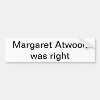 Atwood bumper sticker