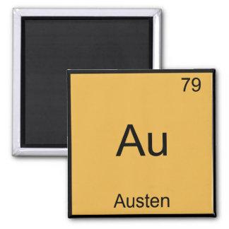 Au - Austen Funny Chemistry Element Symbol T-Shirt Square Magnet