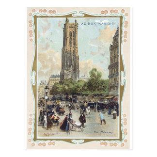 Au Bon Marche' 1900 Tour Palais Victorian Postcard