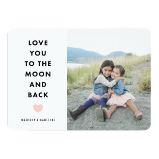 Au carte photo de Saint-Valentin de la lune | Carton D'invitation 12,7 Cm X 17,78 Cm