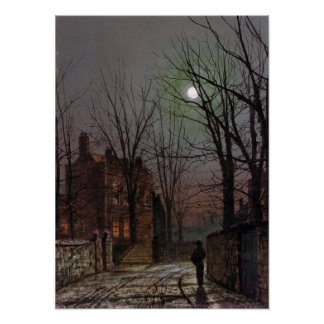 Au Clair De Lune Poster