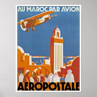 Au Maroc Par Avion Poster
