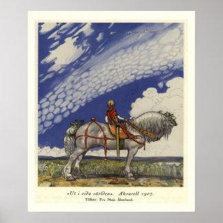 Au monde large par John Bauer Affiches