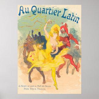 """Au Quartier Latin """"To the Latin Quarter"""" Poster"""