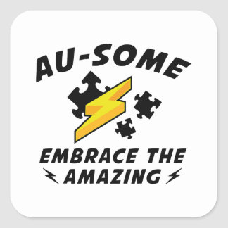 AU-SOME SQUARE STICKER