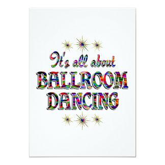 Au sujet de la danse de salon carton d'invitation  12,7 cm x 17,78 cm