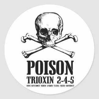 Aube de Trioxin 3-4-5 de zombi de poison des morts Autocollants Ronds
