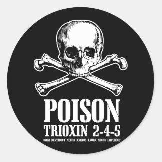 Aube de Trioxin 3-4-5 de zombi de poison des morts Autocollant Rond