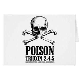 Aube de Trioxin 3-4-5 de zombi de poison des morts Carte De Vœux