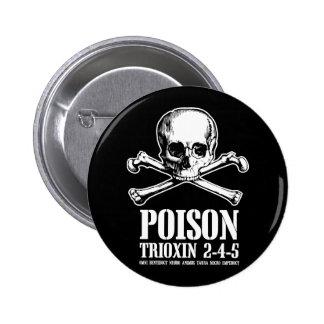 Aube de Trioxin 3-4-5 de zombi de poison des morts Macaron Rond 5 Cm