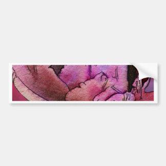 Aubergine Rose Bumper Sticker
