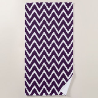Aubergine Southern Cottage Chevrons Beach Towel