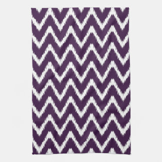 Aubergine Southern Cottage Chevrons Kitchen Towel