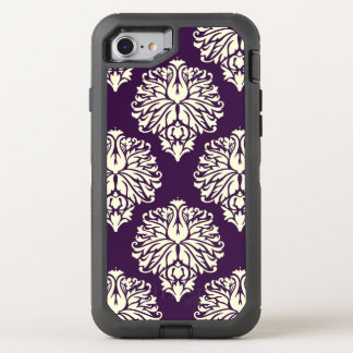 Aubergine Southern Cottage Damask OtterBox Defender iPhone 8/7 Case