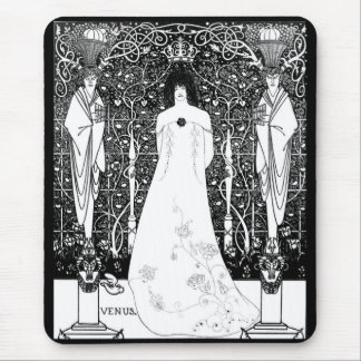 Aubrey Beardsley and Venus between the boundary Mouse Pad