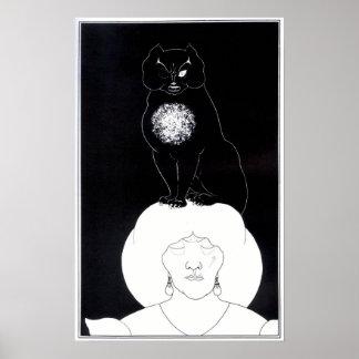 Aubrey Beardsley - Black Cat Poster