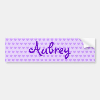 Aubrey in Purple Bumper Sticker