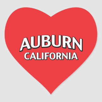 Auburn California Heart Sticker
