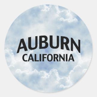 Auburn California Round Sticker