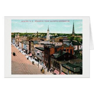 Auburn, New York, Bird's Eye View, Vintage Card