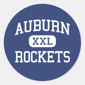 Auburn - Rockets - High - Auburn Massachusetts Round Sticker