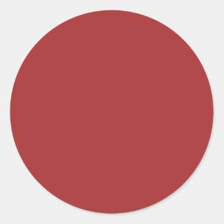 Auburn Round Sticker