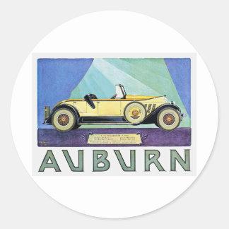 Auburn Vintage Auto Advertisement Round Sticker