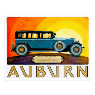 Auburn ~ Vintage Motor Car Advertisement Postcard