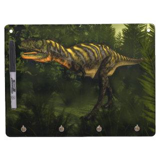 Aucasaurus dinosaur - 3D render Dry Erase Board With Keychain Holder